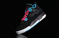 Кроссовки Air Jordan 4(IV) Retro Black Blue Pink (36-46), фото 8