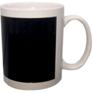 Кружка керамическая белая (черный хамелеон прямоугольник)