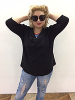 Черная кофта-накидка 48-56 размер , фото 1