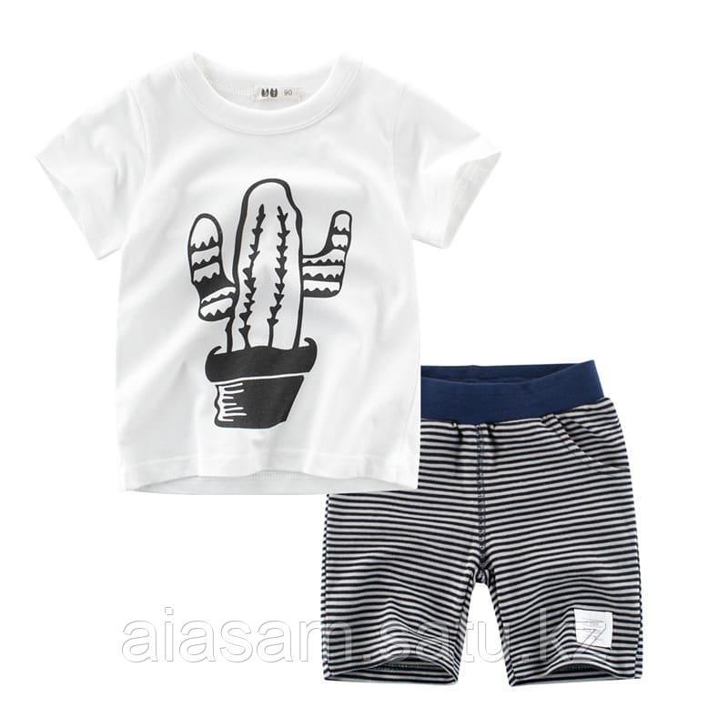Футболка и шортики в комплекте для мальчика. Двойка мальчик