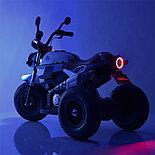 Электромотоцикл детский с надувными колесами BQ 8188, белый, фото 5