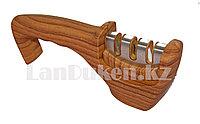 Ручная точилка для ножей 3 в 1, деревянная