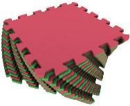Мягкий пол универсальный 25*25 (см) красно-зеленый