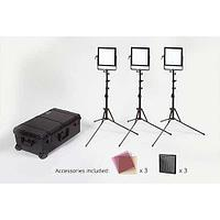 Rosco 3-Head LitePad Vector CCT Location Lighting Kit