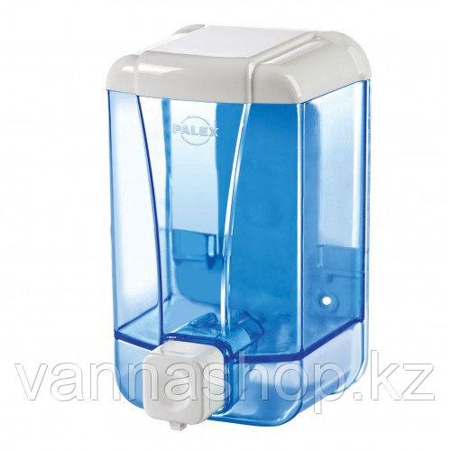 "Диспенсер Palex для пенки для мытья рук ""Прозрачный синий"" 500мл"