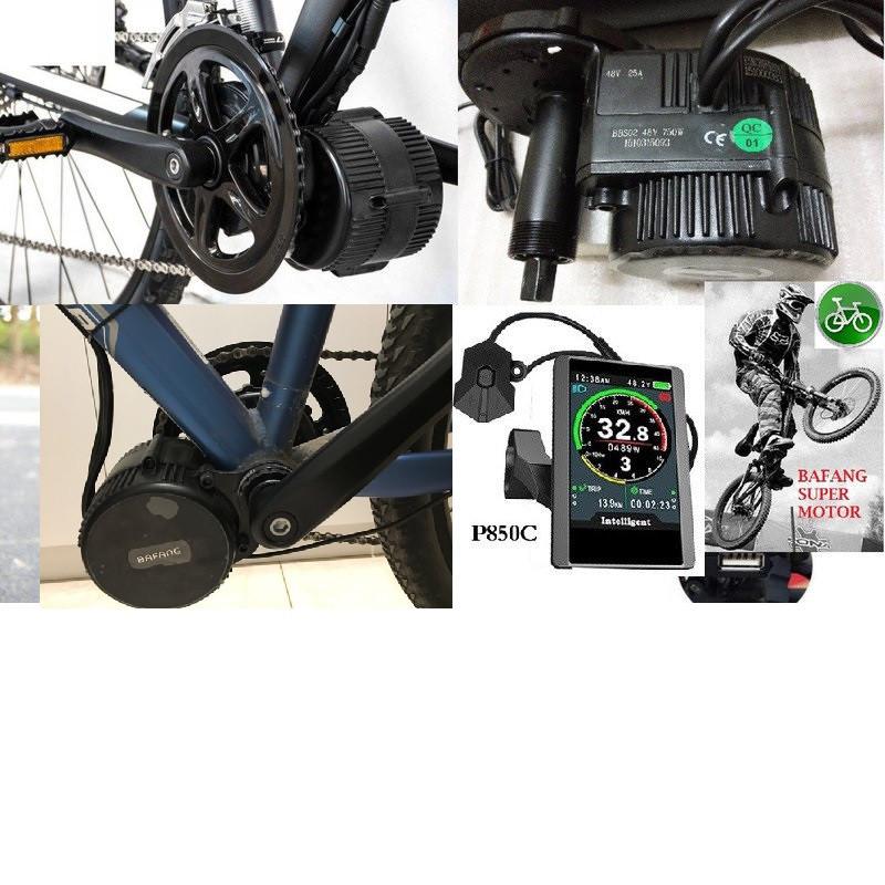 Эл. набор  Bafang 8FUN BBSHD 48v 1000w с цветным дисплеем TFT-850C кареточный на велосипед.  Без аккумулятора.