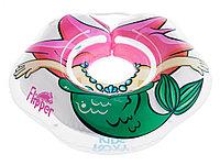 Надувной круг на шею для купания малышей FLIPPER Русалка. Возраст от 0 до 2-х лет