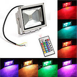 Прожектор светодиодный RGB 50W цветной, разноцветный, меняющий цвета, фото 3