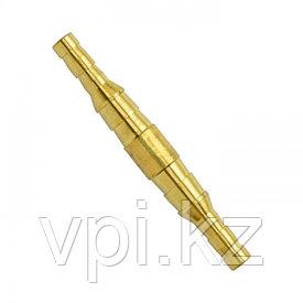 Штуцер двусторонний (трубка) бронза ф12мм