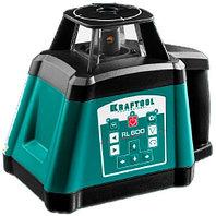 """Ротационный лазерный нивелир """"RL600"""", сверхъяркий, KRAFTOOL 34600, 600м, IP54, точн. 0,2 мм/м"""