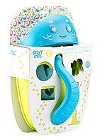 Органайзер-сортер DINO с полкой для игрушек и банных принадлежностей. Цвет зеленый.