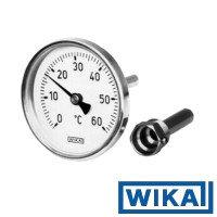 "Термометр биметаллический А 5001 Дк80 +160С L=40мм G1/2"" осевой Wika"