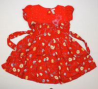 Платье для девочки маки красные