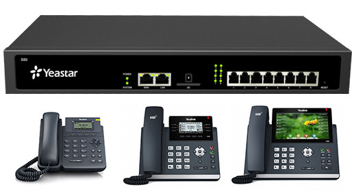 IP АТС Yeastar S100 + IP телефоны