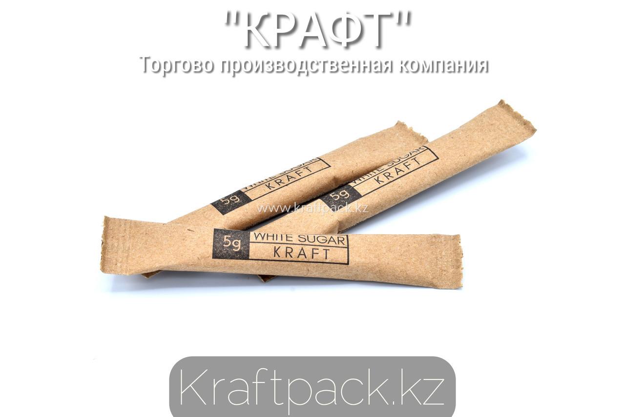 Сахар порционный, тростниковый, в стиках 5гр (5кг/1000шт)