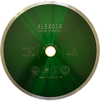 Диск сплошной по мрамору  цвет : зелёный  105D-1.6T-7.0W-22.20H