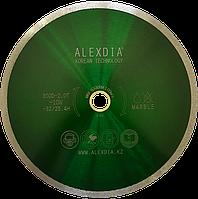 Диск сплошной по мрамору  цвет : зелёный  350D-2.0T-10W-32/25.4/50H