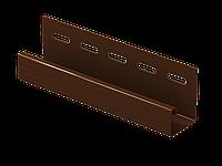 Отделочная рейка (планка J) (коричневый) 3,05м, фото 1