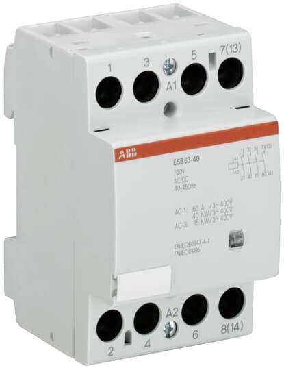 GHE3691102R0006 Модульный контактор ESB-63-40 (63А AC1) катушка 220В АС/DC