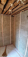 Реконструкция русской бани с дровяной печью. Размер = 2,5 х 1,7 х 2,1 м. Адрес: г. Алматы, Калкаман, мкр-н Шугыла, ул. Сыгай. 33