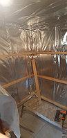 Реконструкция русской бани с дровяной печью. Размер = 2,5 х 1,7 х 2,1 м. Адрес: г. Алматы, Калкаман, мкр-н Шугыла, ул. Сыгай. 36