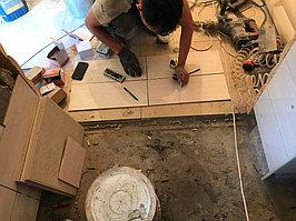 Реконструкция комнаты отдыха и помывочной. Адрес: г. Алматы, Калкаман, мкр-н Шугыла, ул. Сыгай.  44