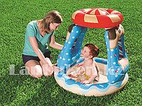"""Детский игровой надувной бассейн с навесом """"Конфетный город"""" BESTWAY 52270  (91* 91* 89 см)"""