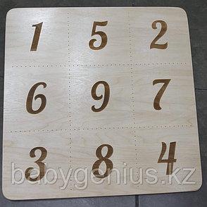 Доска с цифрами, Мишень деревянная для балансировочной доски, фото 2