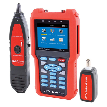 Цифровой тестер систем видеонаблюдения с трассоискателем NF-704, фото 2