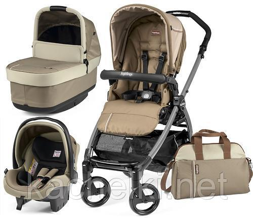 Коляска 3в1 Peg-Perego Book 51 Titania Pop Up Modular Class Beige