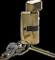 Цилиндровый механизм, тип ключ-завертка, компьютерный тип ключа, длина 70мм цвет - латунь,серия «МАСТЕР», ЗУБР