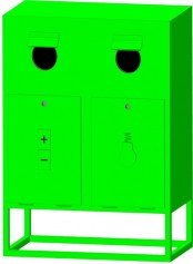 Контейнер для отработанных энергосберегающих ламп, и химических элементов питания (батарейки) КЛБ - 2
