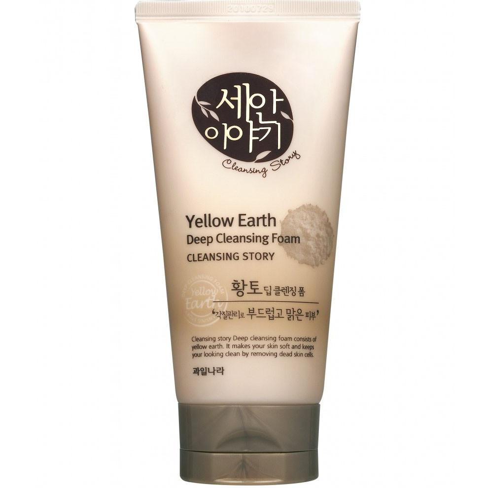 Пенка для умывания Welcos Deep Cleansing Foam White Glay, Yellow Earth 150 ml.