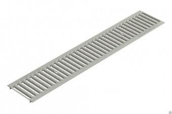 Решетка водоприемная Gidrolica Standart РВ -100х136х1000 - штампованная стальная нержавеющая, кл. А15