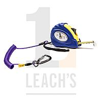 Tethered 5m Magnetic Tape Measure c/w Deluxe Green Tool Safety Rope with Locking Carabina / Привязанная 5м измерительная магнитная рулетка в/к Шнур