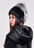 Стильная меховая шапка с шикарным обручем из чернобурки, фото 2