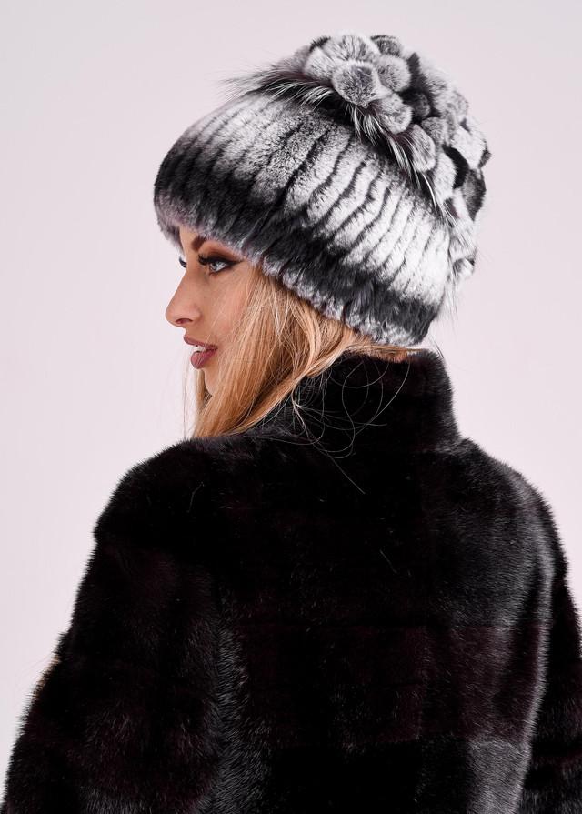 Женская зимняя шапка из меха кролика рекс, купить казахстан