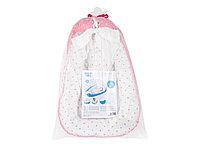 Кокон-гнездо для новорожденных (розовый)