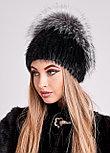 Роскошная меховая шапка с объемным колпаком из чернобурки, купить в Казахстане, фото 6