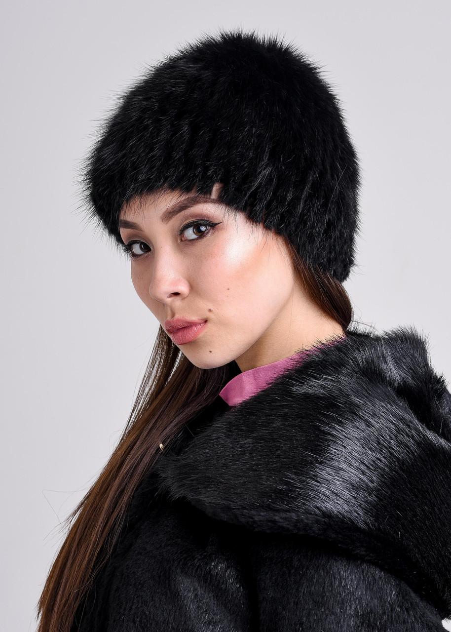 Женская шапка из натурального меха ондатры | натуральный мех