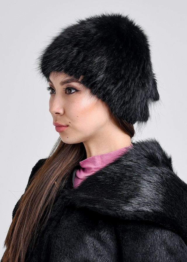 Женская зимняя меховая шапка из ондатры купить онлайн караганда