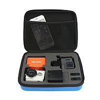 Средняя сумка для экшн-камер TELESIN-210 Черная/Синяя, фото 1