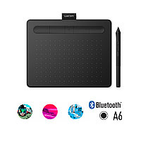Графический планшет Wacom Intuos Small Bluetooth, CTL-4100WLK-N, Чёрный