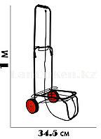 Складная тележка, 2-х колесная металлическая (черная)