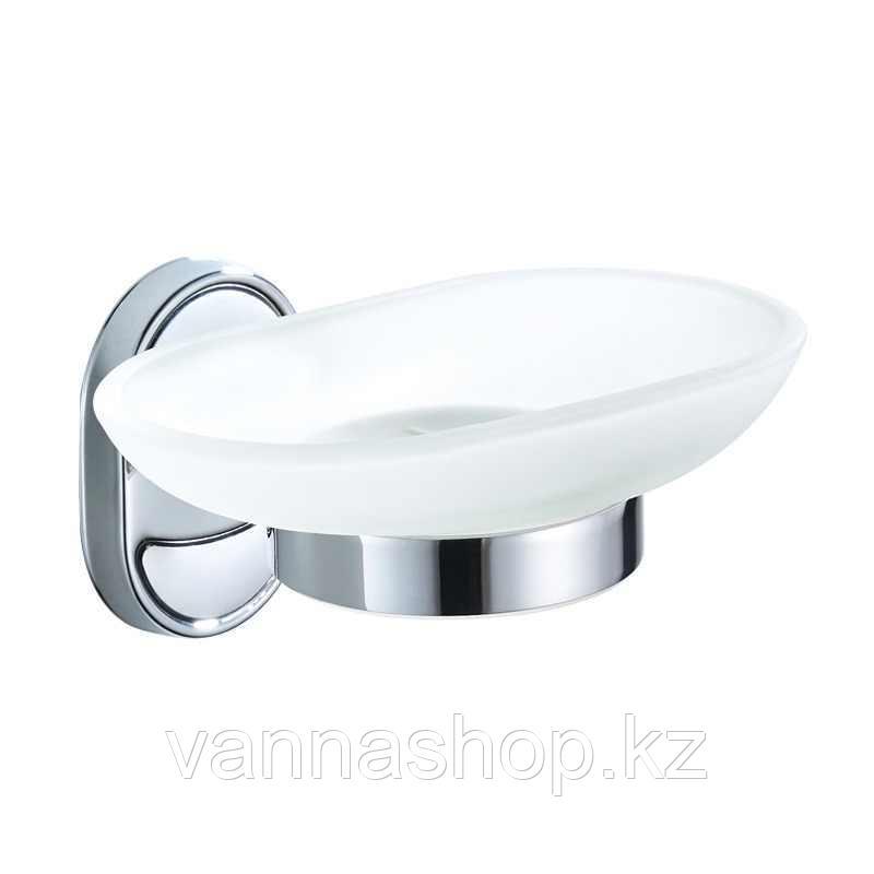 Настенная мыльница стеклянная (матовая)