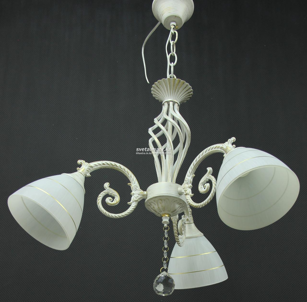Люстра подвесная 3-х ламповая в стиле Прованс