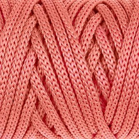 Шнур для рукоделия полиэфирный 'Софтино' 4 мм, 50м/110гр (коралловый) (комплект из 2 шт.)