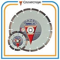 Отрезной алмазный круг сегментный по строительным материалам-230, серия Gazel Profi