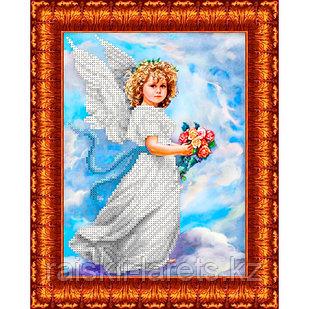 """Схема для вышивания бисером/крестом  """"Ангел в облаках"""" КБА-4013"""