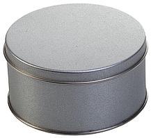 Коробка круглая, малая, серебристая